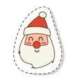 Santa Claus flat icon face vector image