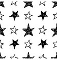 Seamless star pattern hand drawn sketch stars