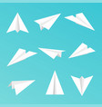 set a simple paper planes icon vector image vector image
