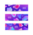 set horizontal abstract liquid banners vector image vector image
