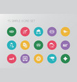 set of 15 editable gambling icons includes vector image vector image