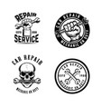 set of car repair emblems design element for logo vector image vector image
