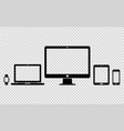set of digital devices icons vector image vector image