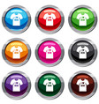 shirt with print set 9 collection vector image vector image