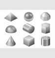 silver metal forms vector image vector image