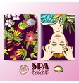 spa massage her face vector image vector image