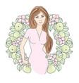 spring portrait color vector image