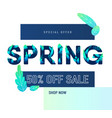 spring sale banner background with beautiful vector image
