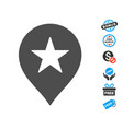 star favourites marker icon with free bonus vector image vector image