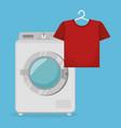 wash machine laundry service vector image vector image