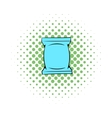Wet wipes package icon comics style vector image