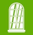 white window frame icon green vector image vector image