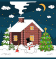 winter house christmas composition vector image
