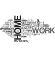 work at home and still earn huge amounts text vector image vector image