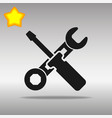 work tool black icon button logo symbol vector image