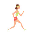 young woman doing morning workout girl running in vector image vector image
