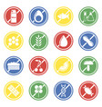 allergen labels colorful set isolated on vector image