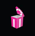 gift box pink vector image