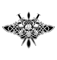 three skulls vector image