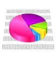 3d pie graph vector image