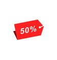 50 discount hang tag template vector image vector image