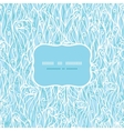 Abstract frost swirls texture frame seamless vector image