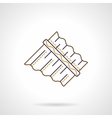 Abstract panpipes flat line icon vector image vector image