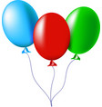 air balloons red green blue vector image vector image