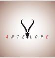 antelope logo ideas design vector image vector image