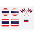 badges with flag of Thailand vector image vector image