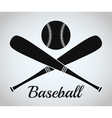 Ball and bat of baseball sport design