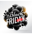 black friday sale background with bunch of black vector image vector image