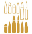 Bullet Outline Silhouette vector image