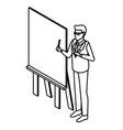 businessman on presentation vector image vector image