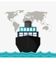 Cargo ship on water image
