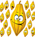cocoa pod with many facial expressions isolated on vector image vector image
