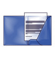 corporate business folder and document paper vector image vector image
