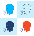 coughing person icon set in line style vector image vector image