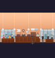 court hearing concept flat vector image vector image