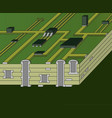 cross-section of green motherboard vector image