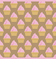 cupcake pattern beige pink art background vector image vector image
