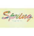 Decorative Spring Text with Transparency and vector image vector image