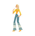 disco dancing woman isolated vector image vector image