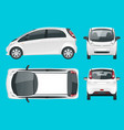 electric vehicle or hybrid car eco-friendly hi vector image
