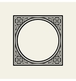 Elegant frame in Victorian style The circle vector image vector image
