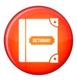 English dictionary icon flat style vector image vector image