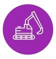 Excavator line icon vector image vector image