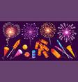 firework festive isometric set vector image vector image