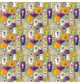 Flat Beige Halloween Party Seamless Pattern vector image vector image