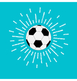 Football soccer ball with shining sunlight effect vector image